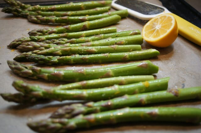 Roast Asparagus with Meyer Lemon and Chopped Egg