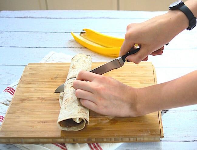 Nutty Chocolate Banana Wraps