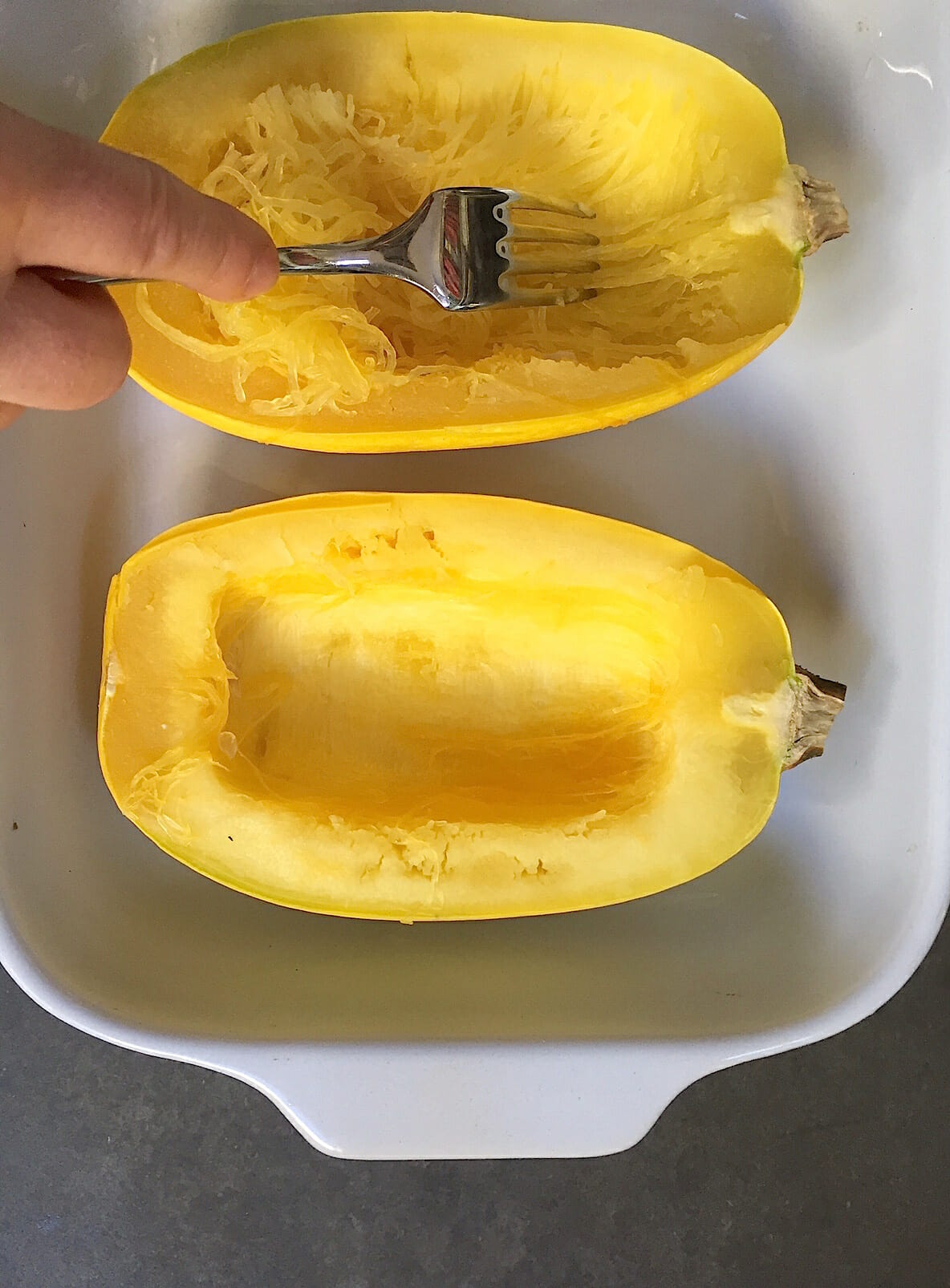How to cook spaghetti squash in the microwave in just a for What to make with spaghetti squash