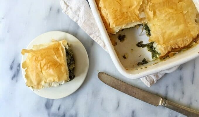 Healthy Spinach and Feta Pie