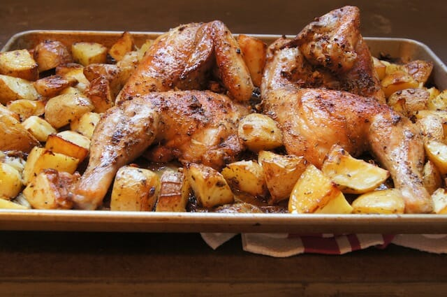 Best Greek Chicken and potatoes