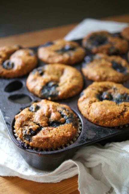 Pumpkin spice blueberry muffins