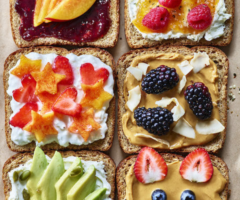 healthy breakfast toast with all the toppings
