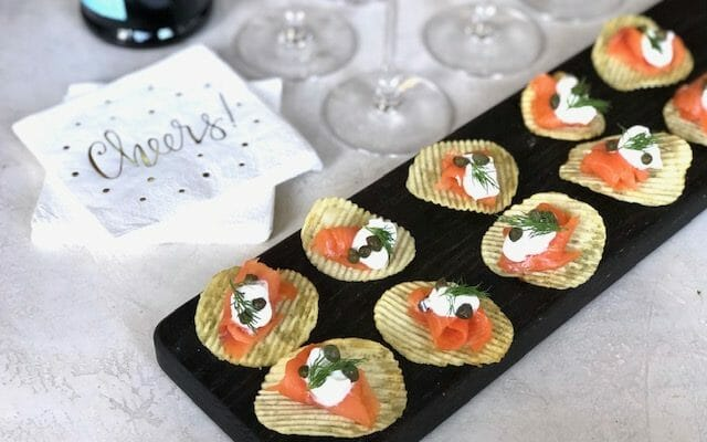 Smoked Salmon Potato Chip Appetizer
