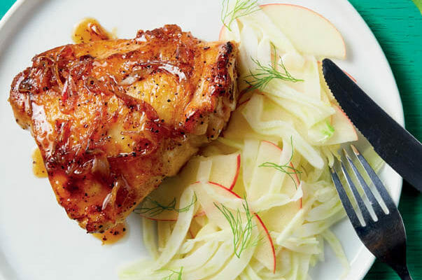 Chicken Thighs with fennel slaw